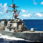 Американский эсминец столкнулся с сухогрузом